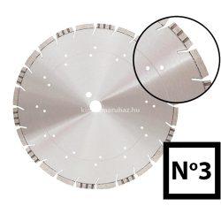 Gyémánttárcsa No3   350mm  x 25,4mm   3,20mm