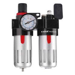 Légszűrő nyomásszabályozóval, olajozóval és manométerrel