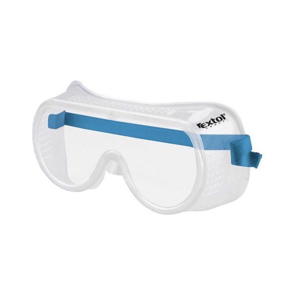 Extol védőszemüveg, víztiszta, sík polikarbonát lencse