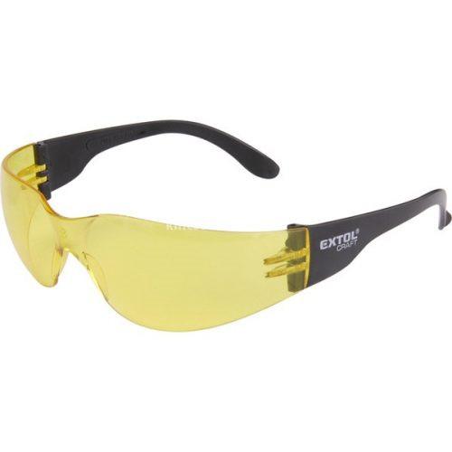 Extol Craft védőszemüveg, sárga