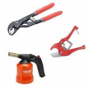 Vízszerelési eszközök, kiegészítők